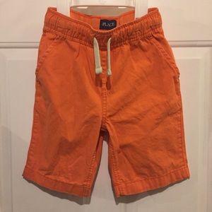 PLACE Boys Orange Elastic Waist Pull On Shorts